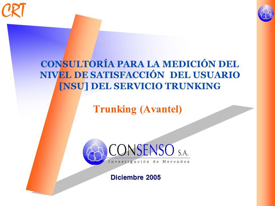 CONSULTORÍA PARA LA MEDICIÓN DEL NIVEL DE SATISFACCIÓN DEL USUARIO [NSU] DEL SERVICIO TRUNKING
